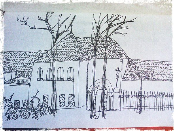 Работы второго семестра в School of Form | murushki. Making things bright!  #onelinesketch #sketch #sketchbook #murushki #line #house #illustration