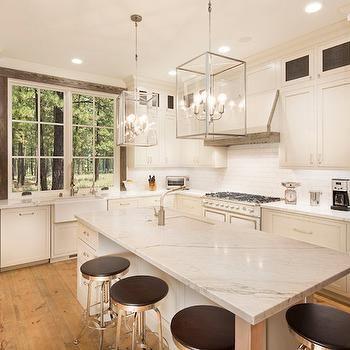 Long Kitchen Island Design, Cottage, Kitchen, Crestwood Construction