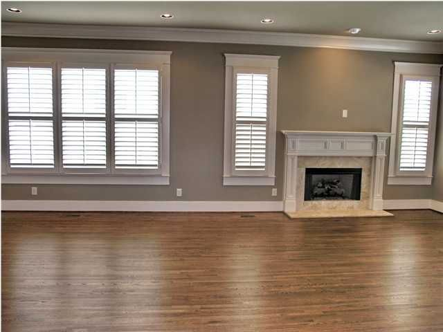 plantation shutters + wall color = LOVE!.......would love for the living room