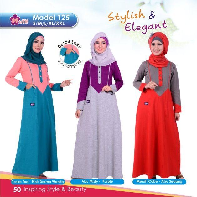 """Gamis Mutif 125 cocok untuk wanita yang ingin tampil""""Simple & Beauty"""",praktis dan nyaman digunakan dengan bahanKatun Combedyang nyaman dan tidak panas"""