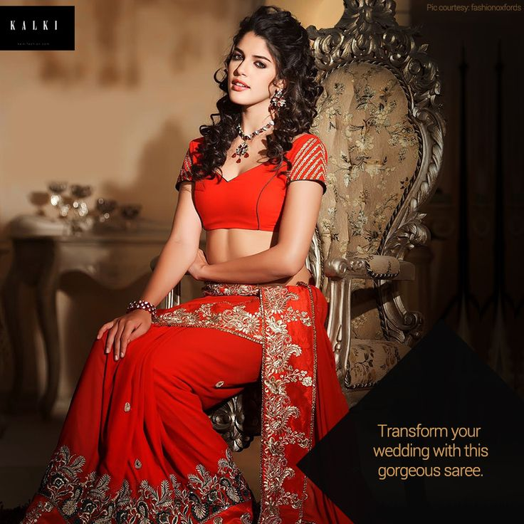 Transform yourself with this gorgeous saree.