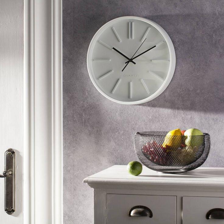 #zegar #clock #watch #decoration #dekoracje  Zegar Scandi Clock 35cm, 35x5x35cm - Dekoria