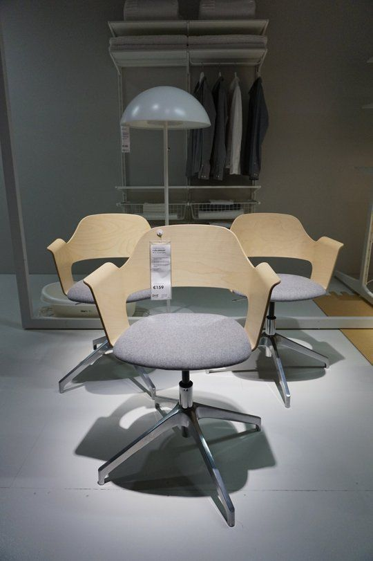 A Sneak Peek at IKEA's New 2015 Collections - Office chair with a mix of materials. wood finish and fabric - Another wish list item! - @sessavee
