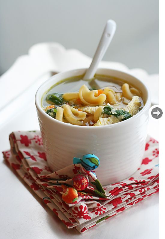 chicken soup never looked so good