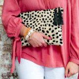 Small Cheetah Hair on Hide Clutch ~ Cheetah Print, Leopard Print, Animal Print, Statement Clutch, Hair on Hide, Calf Hair