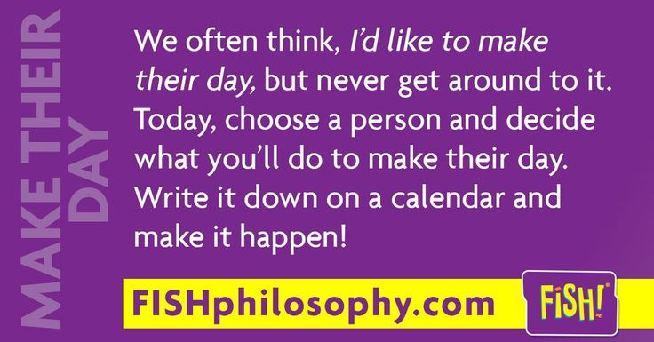 Make it happen! #MakeTheirDay #Propellergirl #FISHPhilosophy - Photos and videos by FISH Philosophy (@The FISH! Philosophy) | Twitter fish philosophy