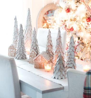 Easy DIY cardboard Christmas tree - vintage Christmas decor // Egyszerű kartonpapír karácsonyfa - vintage karácsonyi dekoráció // Mindy - craft tutorial collection // #crafts #DIY #craftTutorial #tutorial
