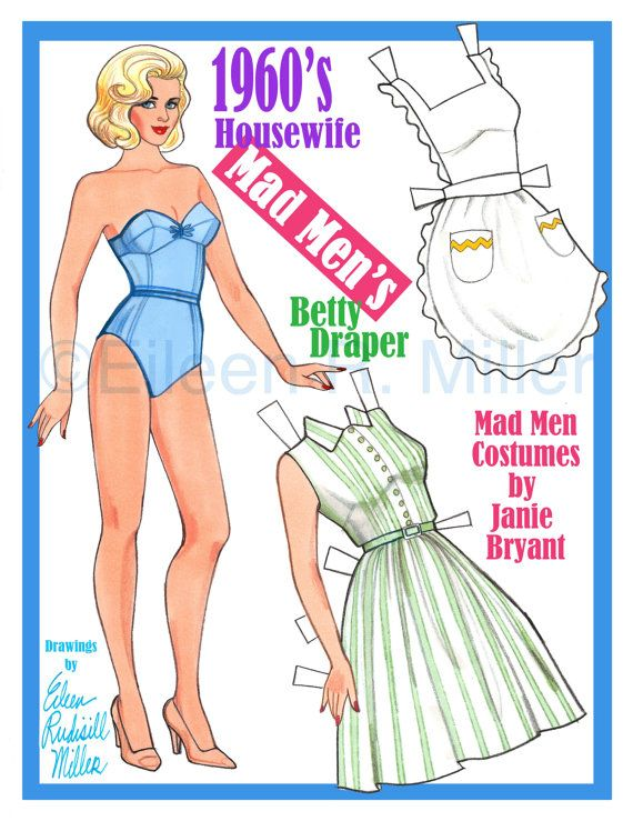 1960's Mad Men Housewife by PaperDollsbyERMiller on Etsy