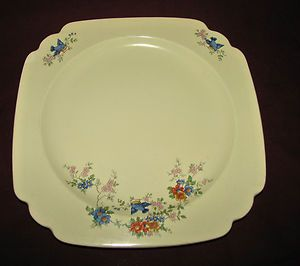 Homer Laughlin China Bluebird Pattern Riviera Blank Luncheon Plate | eBay
