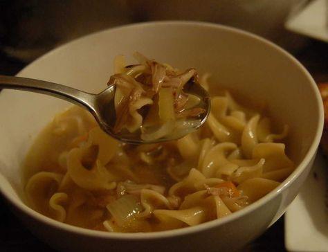 "Jackfruit ""Chicken"" Noodle Soup /by Plant Based on a Budget #vegan #recipe"
