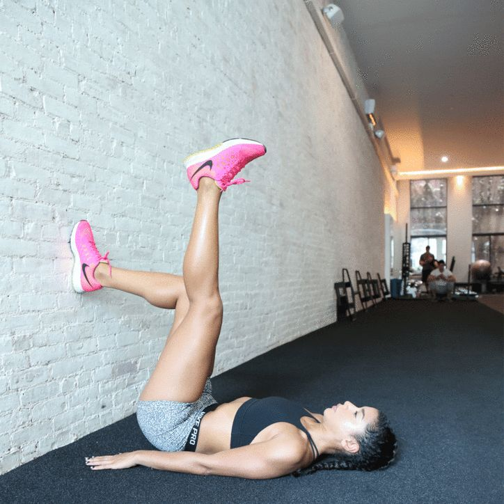 Butt workout GIF: Hannah Bronfman shows you how to do the glute bridge