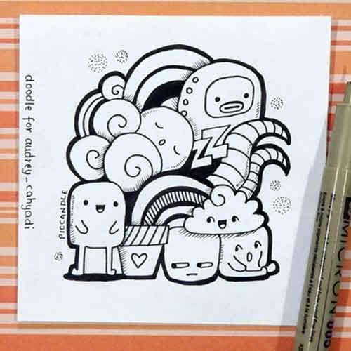 20 Contoh Gambar Doodle Art Simple Mudah Di Tiru Grafis Media