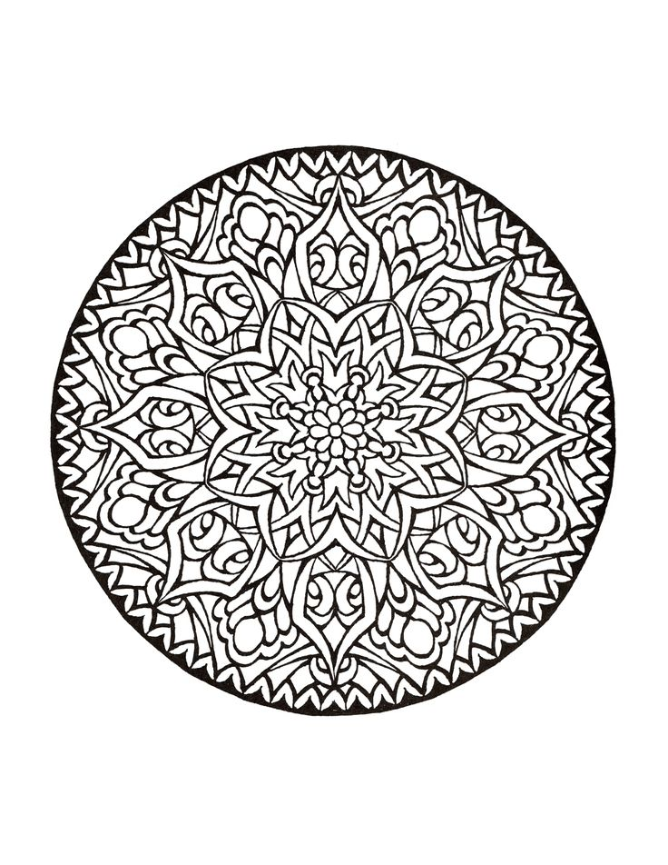 From The Mystical Mandala Coloring Book