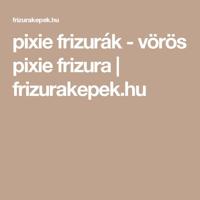 pixie frizurák - vörös pixie frizura | frizurakepek.hu
