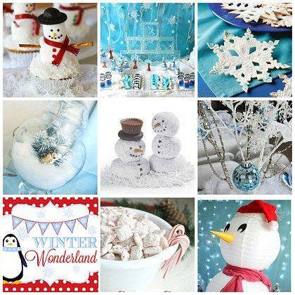 """23 Wonderful """"Winter Wonderland"""" Party Ideas! - Some of these would work great for a """"Frozen"""" party, too!"""