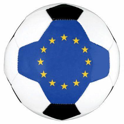 Patriotic Soccer Ball with European Union Flag - elegant gifts gift ideas custom presents