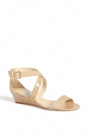 6dfce0ae9f3 Ugh the simple pretty ones are so expensive! Still. Jimmy Choo  Chiara   Strap Wedge Sandal (Women) available at  Nordstrom