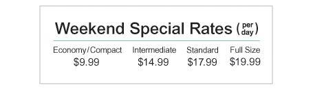 Car Rental Weekend Special - $9.99 Per Day - Enterprise Rent-A-Car