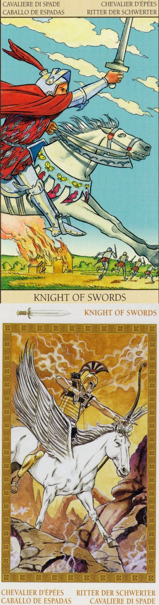 Knight of Swords: ambition and no direction (reverse). New Vision Tarot deck and Olympus Tarot deck: free tarot reading question, golden universaltarot and the tarot. Best 2017 tarot cards how to read and paganism men.