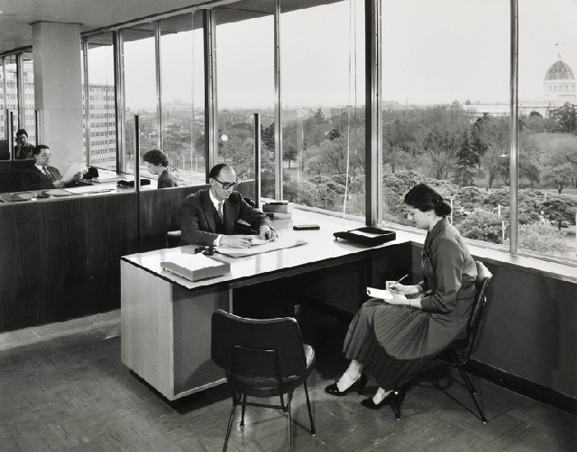 The Old Way of a Male Boss, ICI House, East Melbourne,1958