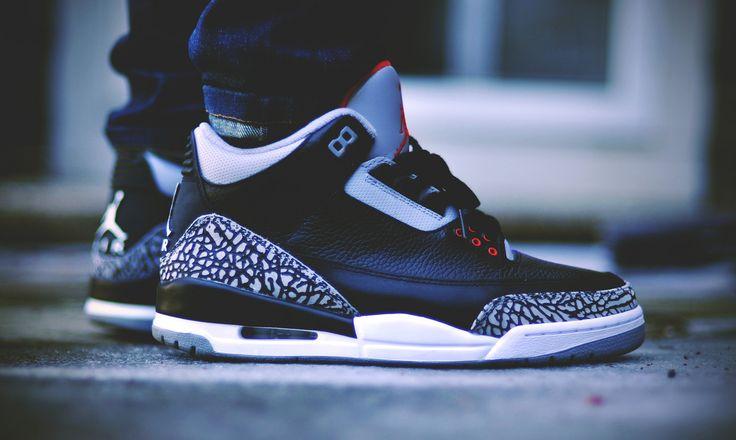 Air Jordan III Retro Black Cement. #sneakers