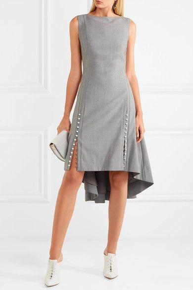 Adeam | Asymmetrisches gewebtes Kleid mit Kunstperlen | NET-A-PORTER.COM
