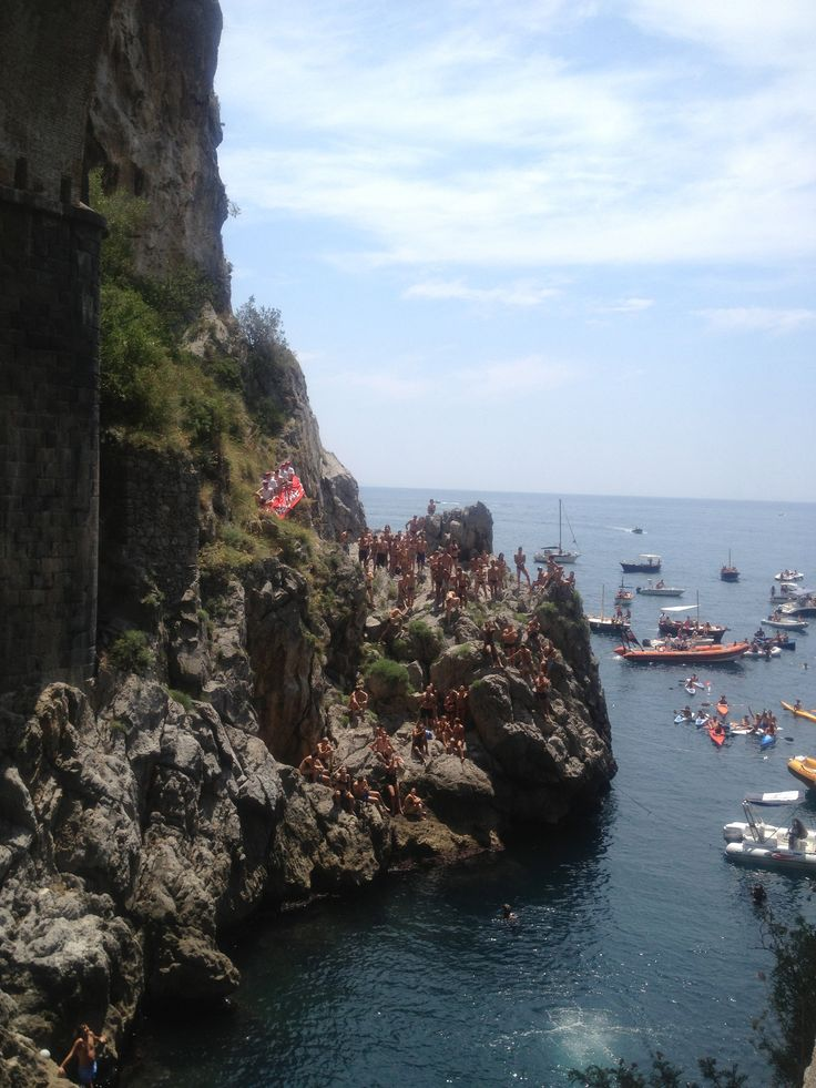 Fiordo di Furore is one of the most beautiful Fjords in the Mediterranean and home to the Mediterranean Cup High Diving Championship every July.