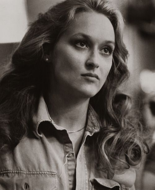 for a second I thought this was Leighton Meester but it's actually old school Meryl Streep!