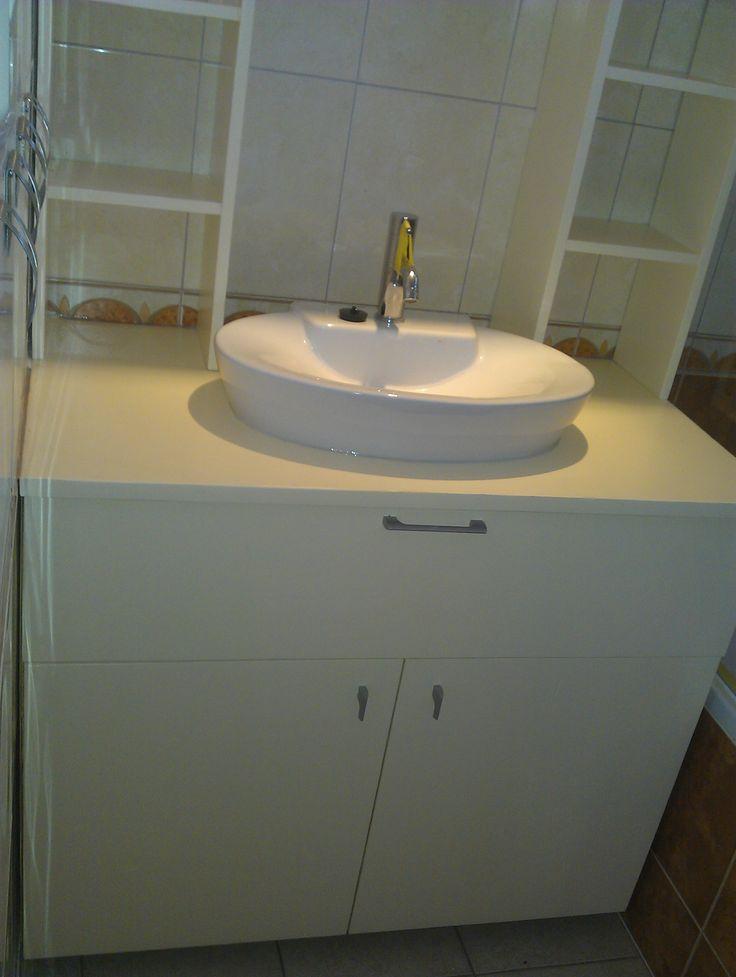 badkamermeubel van ruw underlayment