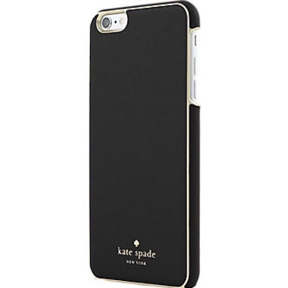 Brand New Kate Spade Wrap Cases For iPhone 6 plus Brand New Authentic Kate Spade New York Designer Case For iPhone 6 plus/6S plus, beautiful Black saffiano leather with gold edge trim warp case, Slim and fully protection. Gorgeous Item come with original retail box. Package is perfect No trade please! No low balling please kate spade Accessories Phone Cases