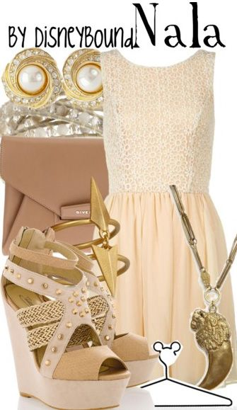 Nala from the Lion King, featured on Disney Bound. I am all bout tan and nude fabrics right now, so this is perfect.