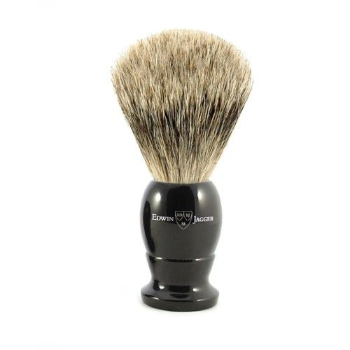 Edwin Jagger English Imitation Ebony Best Badger Shaving Brush