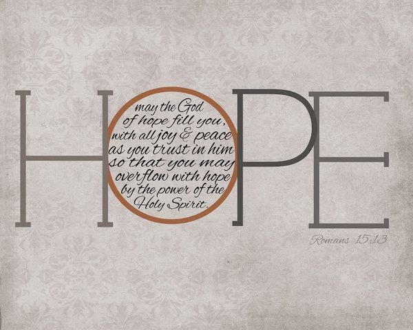 HOPE: The Lord, Romans 15 13, Jesus, Christian Quotes, Holy Spirit, Christmas Card, Romans 1513, Bible Ver, Bedrooms Wall
