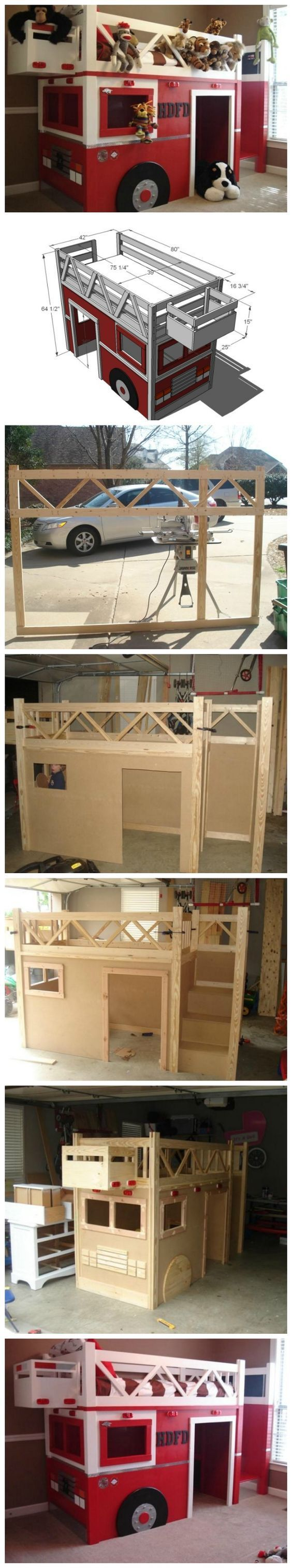How To Build A Fire Truck Bunk Bed