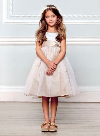 Lela Butterfly Champagne Bridesmaid Dress - dresses & sets - younger girls (2-10)  - Children