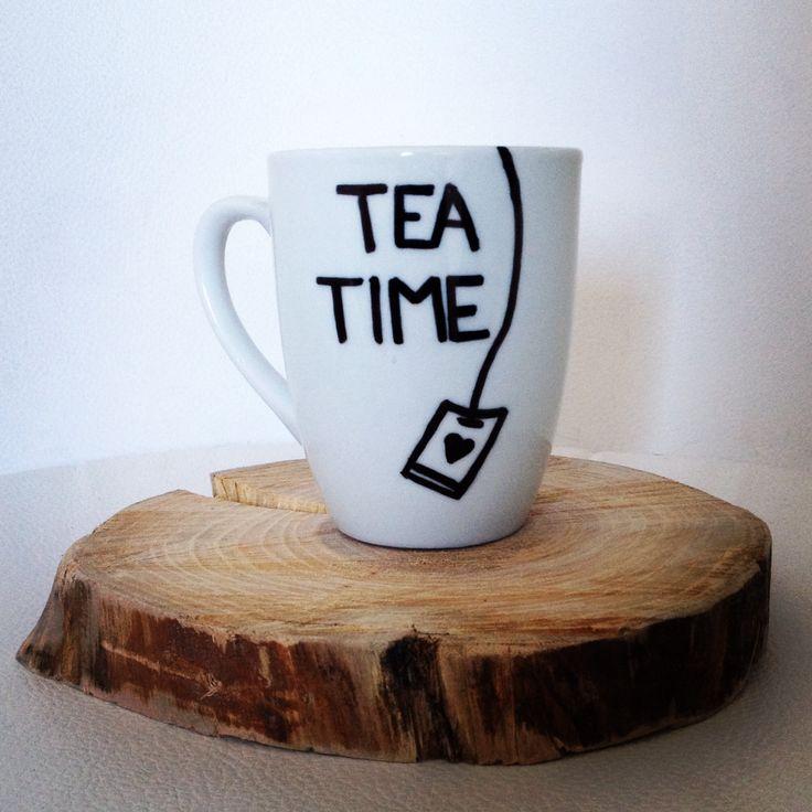 Goodmorning! DIY sharpiemug for tea time, made by me. Sharpiemugs rock!