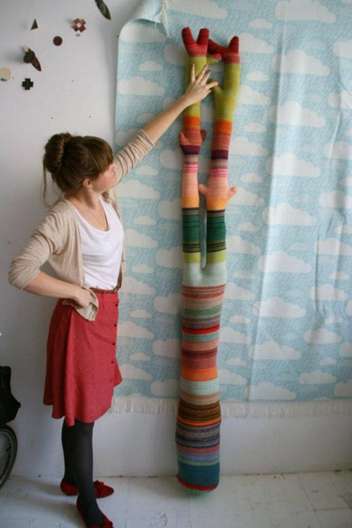One of our trees!: Knitted Tree, Crochet Kniting, Cool Ideas, Blankets, Knit Trees, Blanket Xxxxxx, Crafts