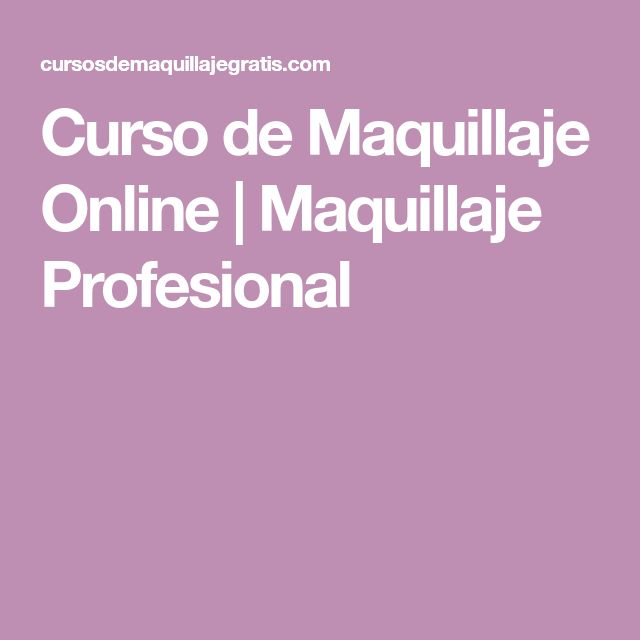 Curso de Maquillaje Online | Maquillaje Profesional