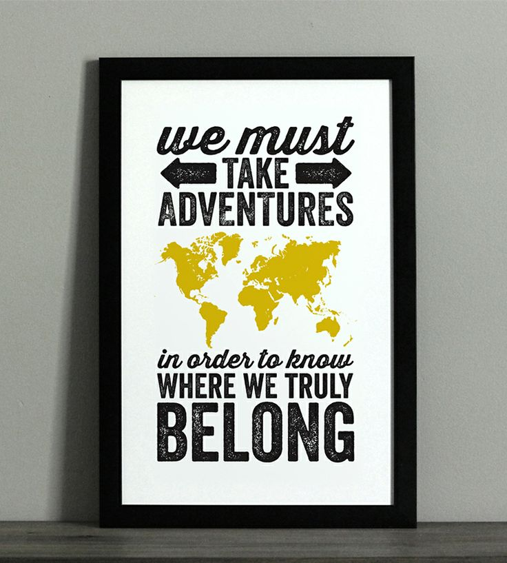 World Adventure Typographic Map Print   Art Prints   The Oyster's Pearl   Scoutmob Shoppe   Product Detail