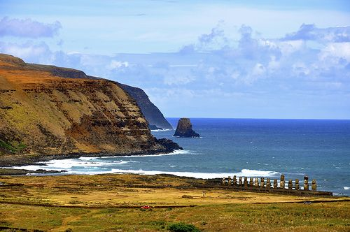Ahu Tongariki. Rapa Nui.