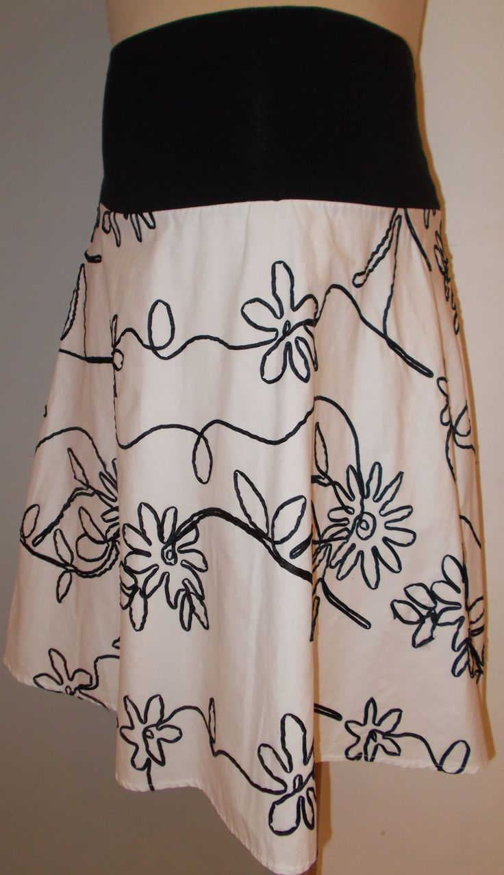 Ran Design - Floral Ribbon Detail Maternity Skirt