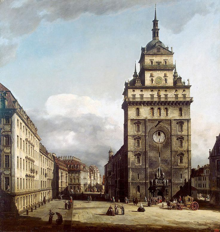 """Bellotto Bernardo - Square With Kreuz Kirche In Dresden (from <a href=""""http://www.oldpainters.org/picture.php?/45294/category/15206""""></a>)"""