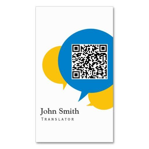 Simple Talk Bubbles Translator Business Card