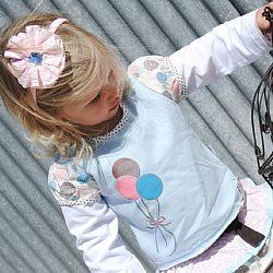 Girls Long Sleeve Tee - Balloons - Love Henry $20.95