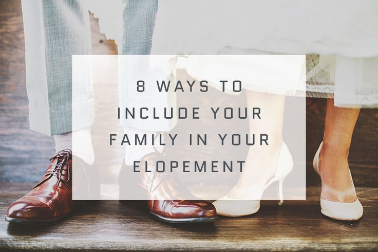 You should never feel like just because you eloped, you owe your loved ones anything. That said, if you and your beloved decide that you want to include your loves ones in the celebration, we've come up with a list of eight ways to do so. Pick and choose the ones that work best for you. From the Skipt Paper Co. Blog