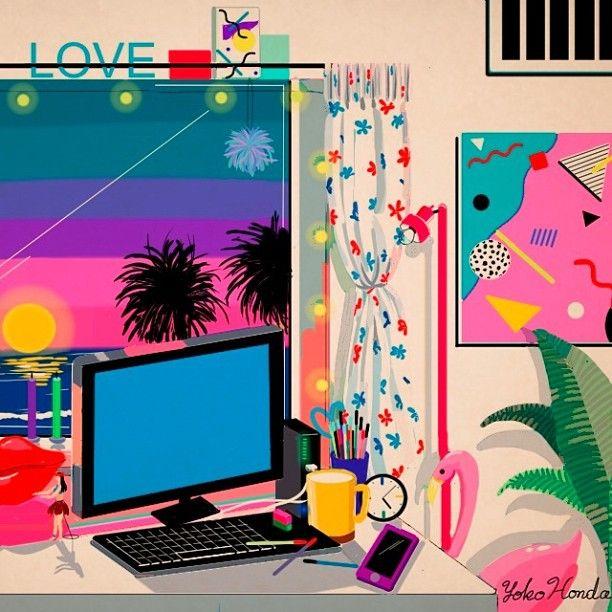 Magazine - Yoko Honda's 80's-Inspired Artwork