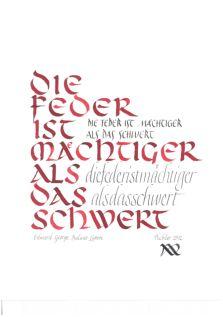 Kalligraphie-Kurse von Anton Pichler, Vorarlberg