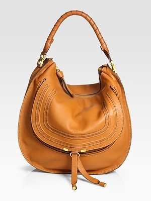 Chloé  Marcie Large Hobo Bag - tan