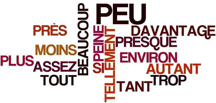 Adverbes de quantité: