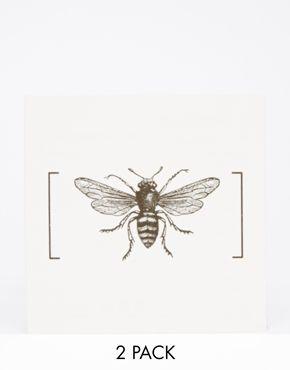 Paperself - Tatouages temporaires motif abeille